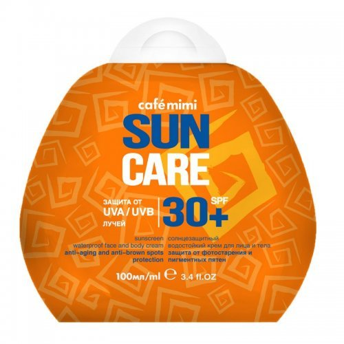 Krema za sunčanje lica i tela SUN CARE (vodootporna) SPF 30+ CAFÉ MIMI 100ml