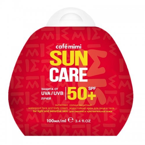 Krema za sunčanje lica i tela SUN CARE (vodootporna) SPF 50+ CAFÉ MIMI 100ml