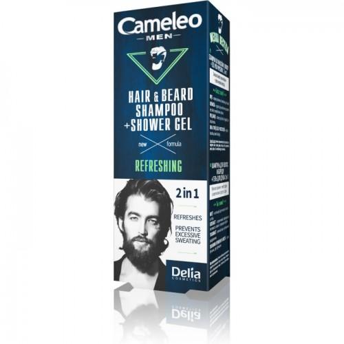 DELIA - CAMELEO MEN - 2 u 1 Šampon + gel za tuširanje za kosu i bradu 150ml
