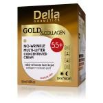 GOLD & COLLAGEN Koncentrovana krema sa koloidnim zlatom i kolagenom protiv bora 55+ za lifting lica 50ml