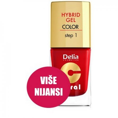 DELIA - Top Coat HYBRID GEL - Step1 bez potrebe za UV lampom 11ml