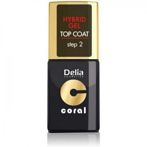DELIA - Top Coat HYBRID GEL - Step2 bez potrebe za UV lampom 11ml