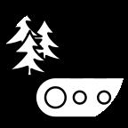 Šuma i fabrička traka u isprekidanoj kružnici