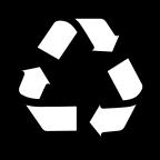 Znak za reciklažu u isprekidanoj kružnici